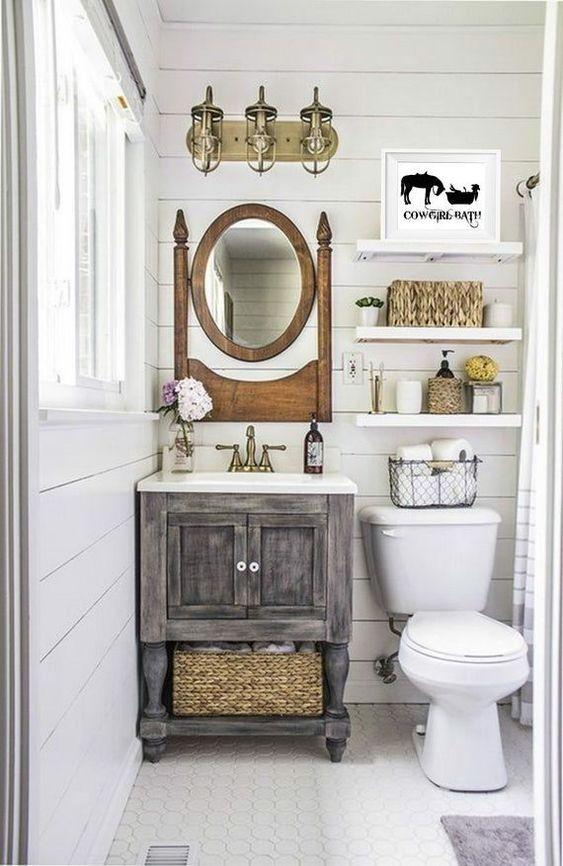 20 Best Small Farmhouse Bathroom Decor Ideas (14)