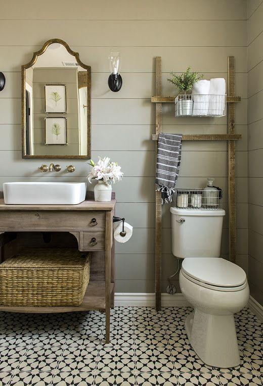20 Best Small Farmhouse Bathroom Decor Ideas (18)