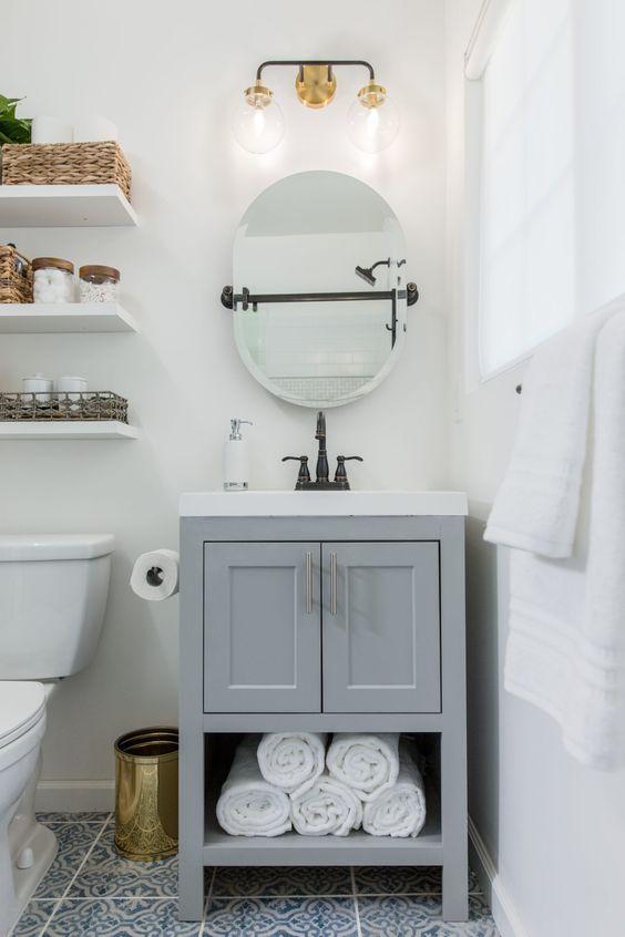 20 Best Small Farmhouse Bathroom Decor Ideas (2)