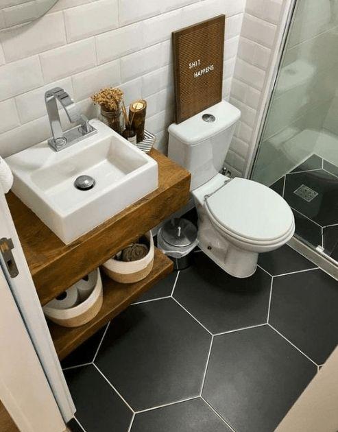 20 Best Small Farmhouse Bathroom Decor Ideas (20)