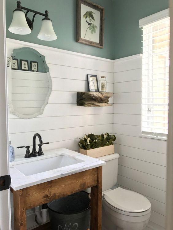 20 Best Small Farmhouse Bathroom Decor Ideas (3)