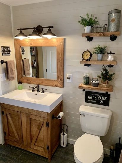 20 Best Small Farmhouse Bathroom Decor Ideas (4)