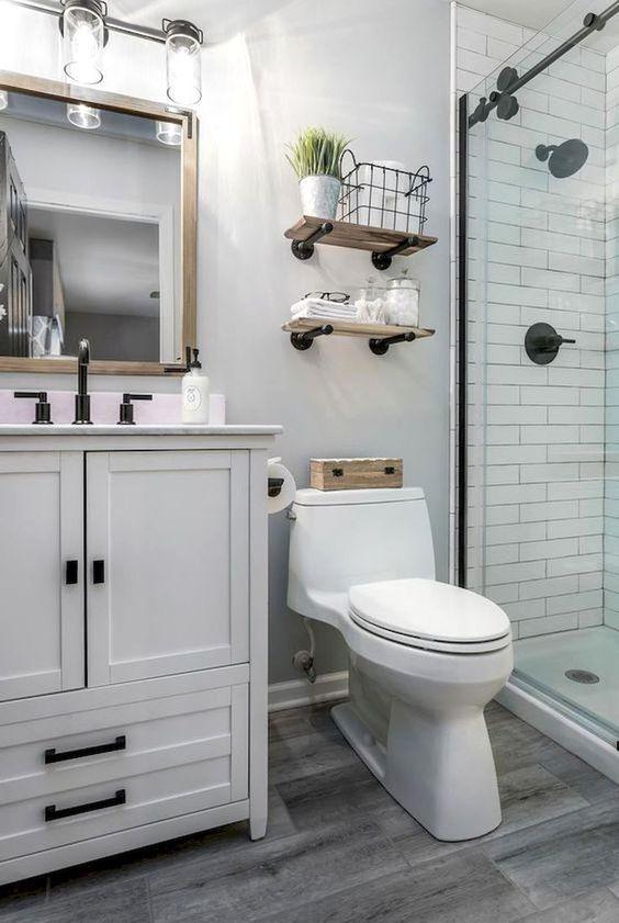 20 Best Small Farmhouse Bathroom Decor Ideas (7)