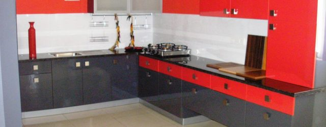 Best  Modular Kitchen Design Red And White