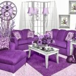 Adorable Purple Living Room Decor