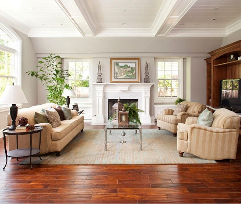 Wonderful Room Design With Wooden Floor
