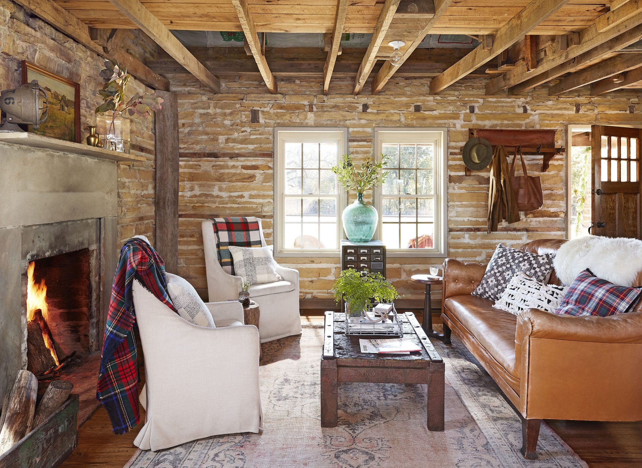 Cool Rustic Living Room Interior Design