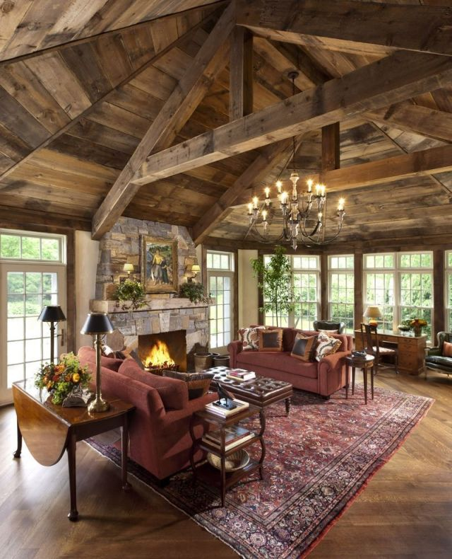 Gorgeous Rustic Living Room Interior Design