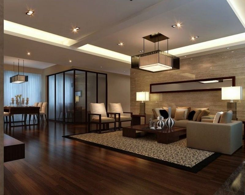 Cool Room Design With Wooden Floor