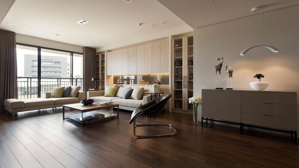 Awesome Room Design With Wooden Floor