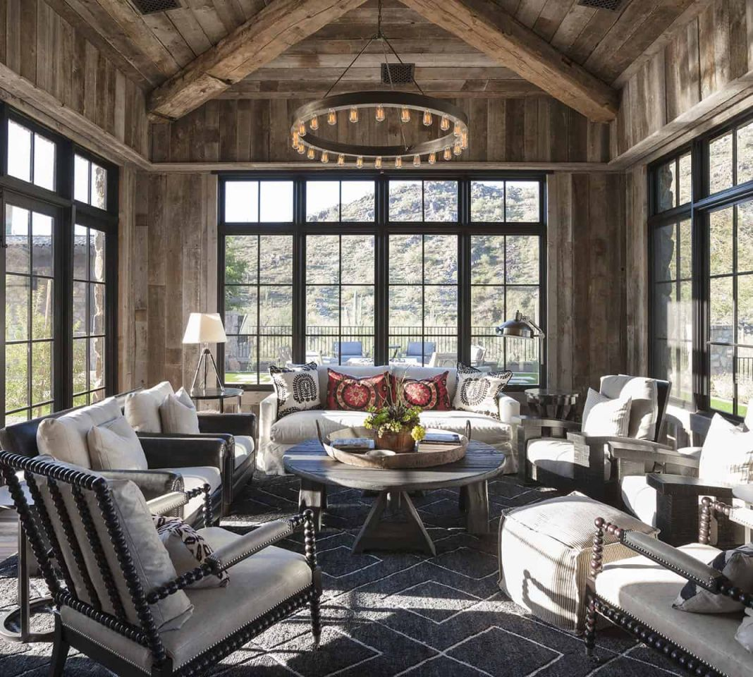 Awesome Rustic Living Room Interior Design